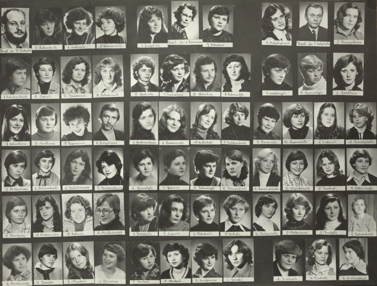 Tuomečio Vilniaus pedagoginio instituto Lietuvių kalbos ir literatūros fakulteto 36 absolventų laida. 1981 m.