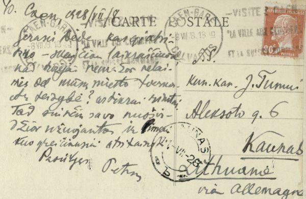 Kano m. (Caen). 1928 m., Prancūzija.