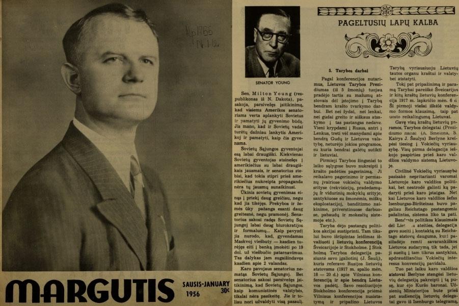 Klimas P. Pageltusių lapų kalba: [Lietuvos valstybės kūrimas 1915–1918 metais] // Margutis. 1956, Vol. 29, no. 1, p. 10–11.