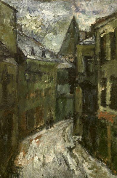 Vokiečių gatvė Vilniuje. 1944. Drobė, aliejus