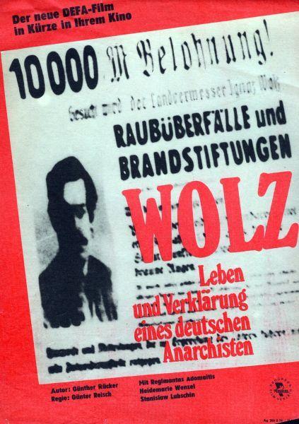 """Filmo """"Volcas – vokiečių anarchisto gyvenimas ir iliuzija"""" plakatas."""