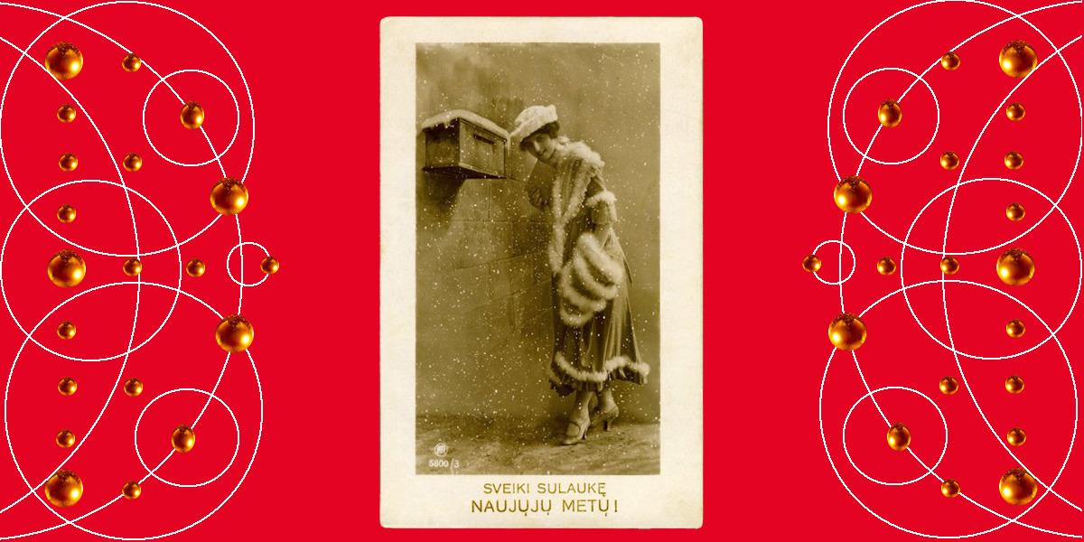 Sveiki sulaukę Naujųjų Metų! Apie 1923 m. Atvirukas