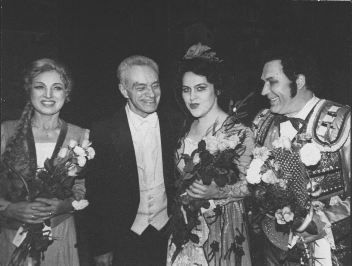 """Po G. Bizė  operos """"Karmen"""" su soliste V. Mozūraityte."""
