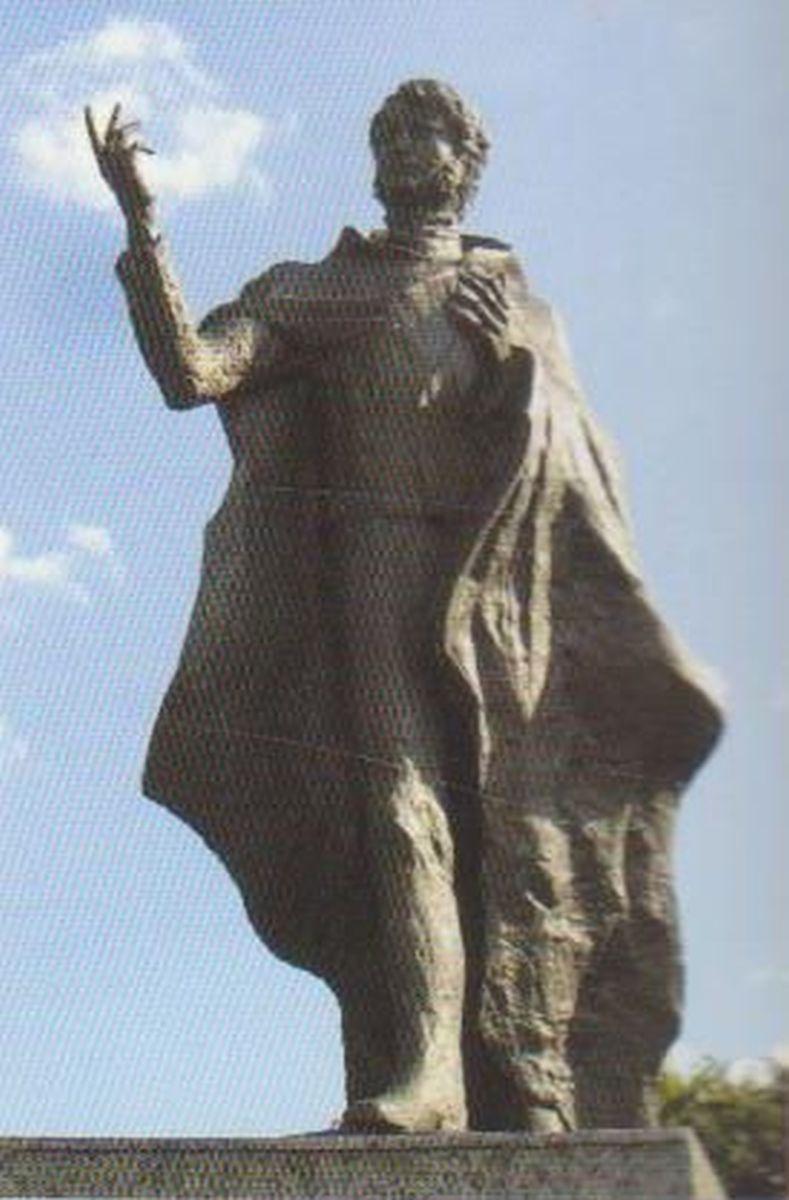 Paminklas Kunigaikščiui Mykolui Kleopui Oginskiui jo gimtinėje, Guzovo (Lenkija) dvarvietėje. Skulpt. A. Rene