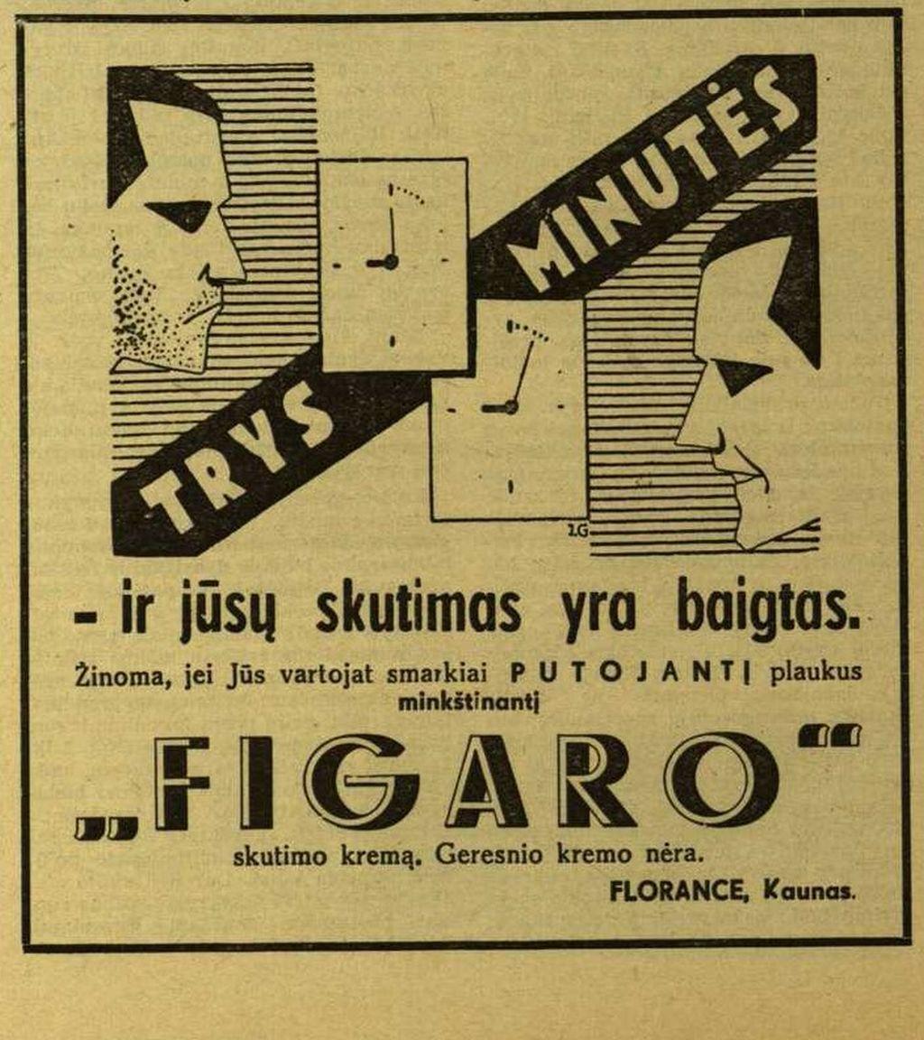 """""""Figaro"""" ir Jūsų skutimasis yra baigtas!"""""""