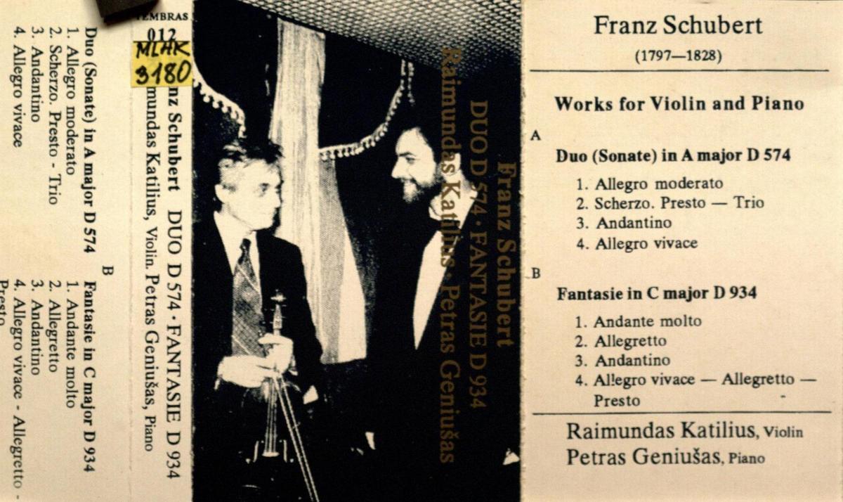 Works for violin and piano [Garso įrašas]