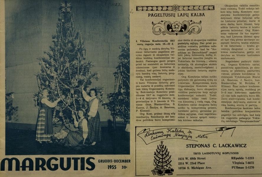 Klimas P. Pageltusių lapų kalba: [Lietuvos valstybės kūrimas 1915–1918 metais] // Margutis. 1955, Vol. 28, no. 12, p. 12–14.