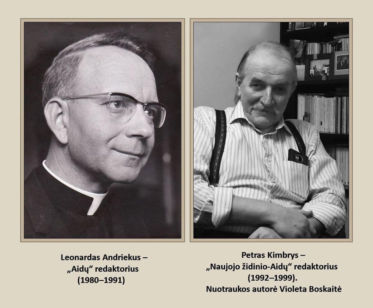 Redaktoriai Leonardas Andriekus ir Petras Kimbrys
