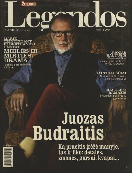 Budraitis J. Kinas man – tam tikra sąžinės išpažintis: [pokalbis su kino ir teatro aktoriumi J. Budraičiu] / kalbėjosi ir užrašė J. Ražkovskytė // Žmonės. Legendos. 2013, nr. 3, p. 12–23.