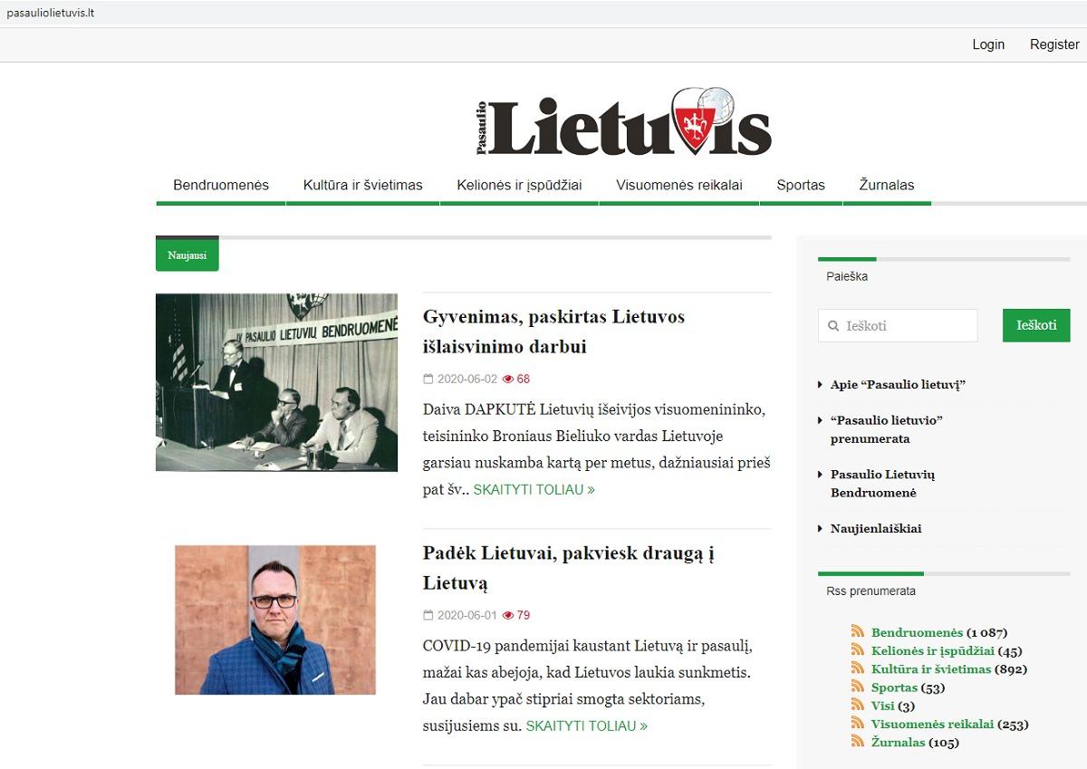 """Iš žurnalo """"Pasaulio lietuvis"""" susiformavusi interneto svetainė <a href="""