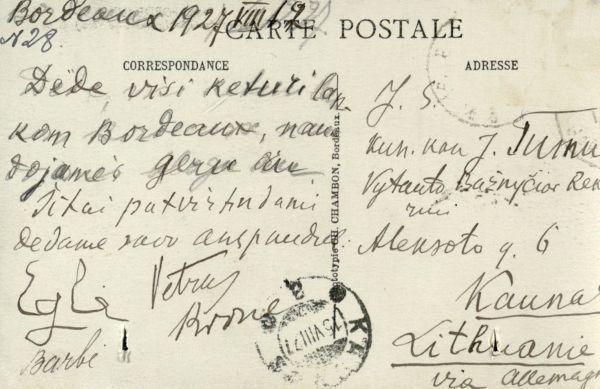 Bordo (Bordeaux). 1927 m., Prancūzija.