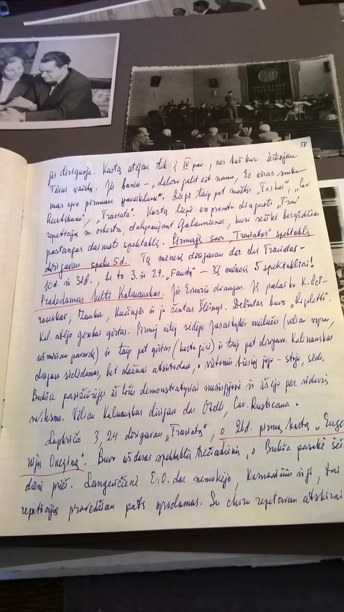 Puslapis iš R. Geniušo dienoraščio