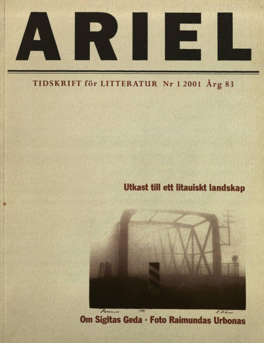 Ariel : tidskrift för litteratur. - Årg. 83, nr. 1 (2001). Tollarp, 1993.