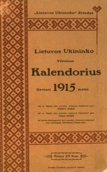 Grinius K. Žinios-žinutės // Vilniaus kalendorius: 1915 metams. 1914, p. 38–42.