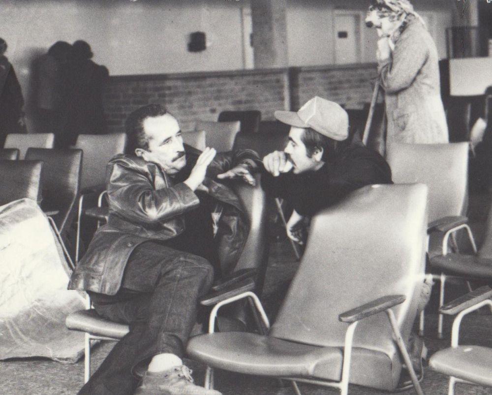 Su aktoriumi K. Smoriginu. Apie 1982 m.