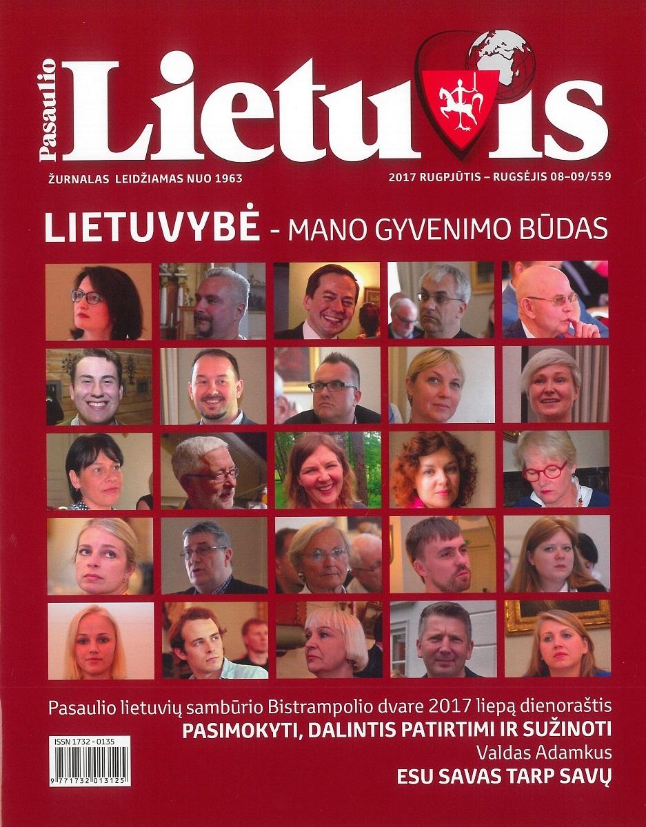 """""""Pasaulio lietuvio"""" viršelis, 2017 m., Nr. 8–9"""