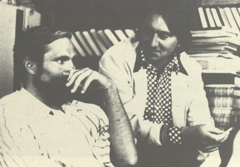 Bronius Radzevičius su bičiuliu literatu Broniumi Kašelioniu.