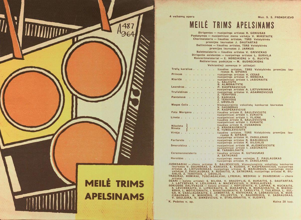 Meilė trims apelsinams : S. Prokofjevo 4 veiksmų opera. [1964] m.
