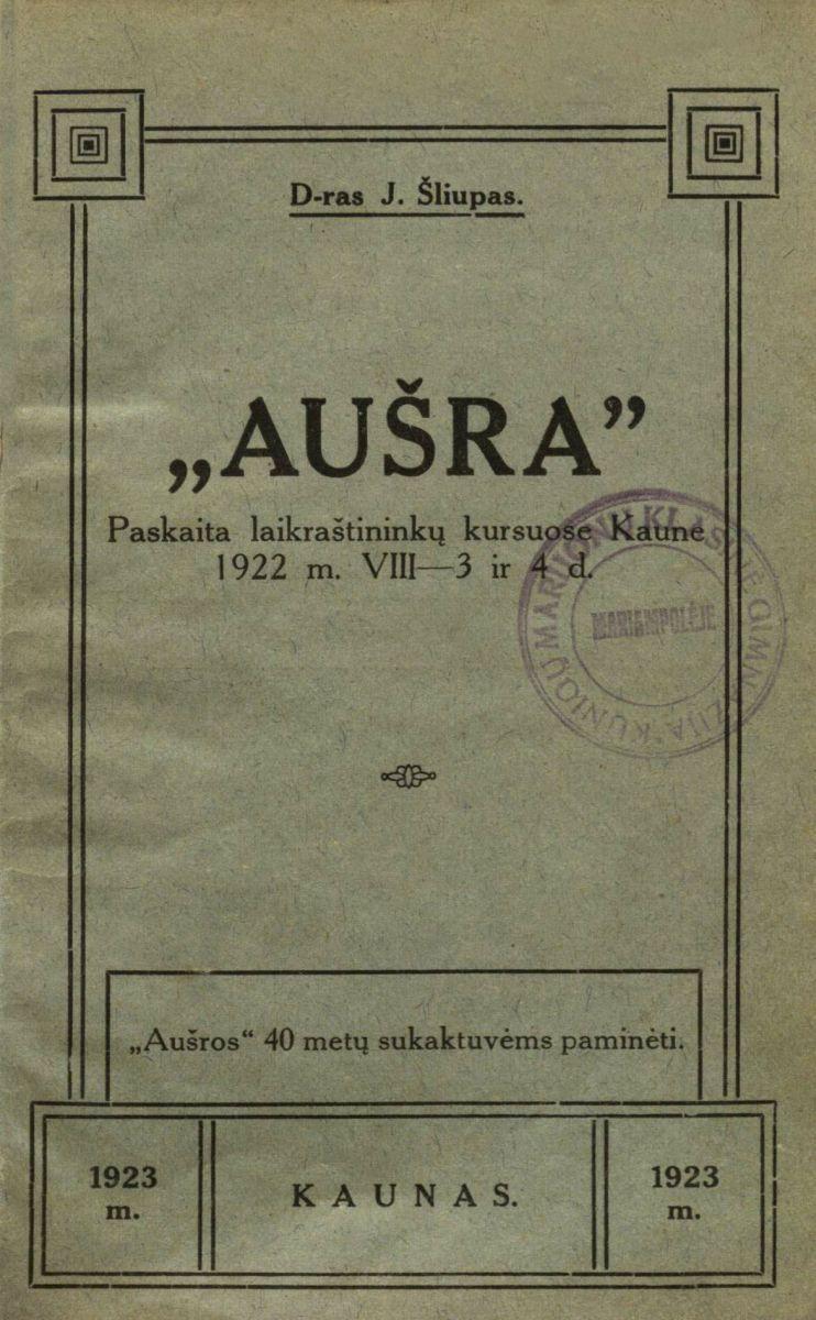 Aušra. Kaunas, 1928.