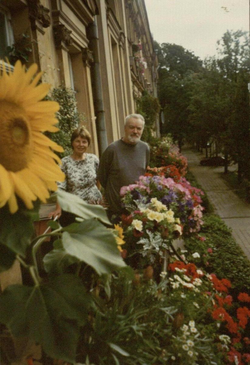 Rimas ir Irena Geniušai savo namų balkone