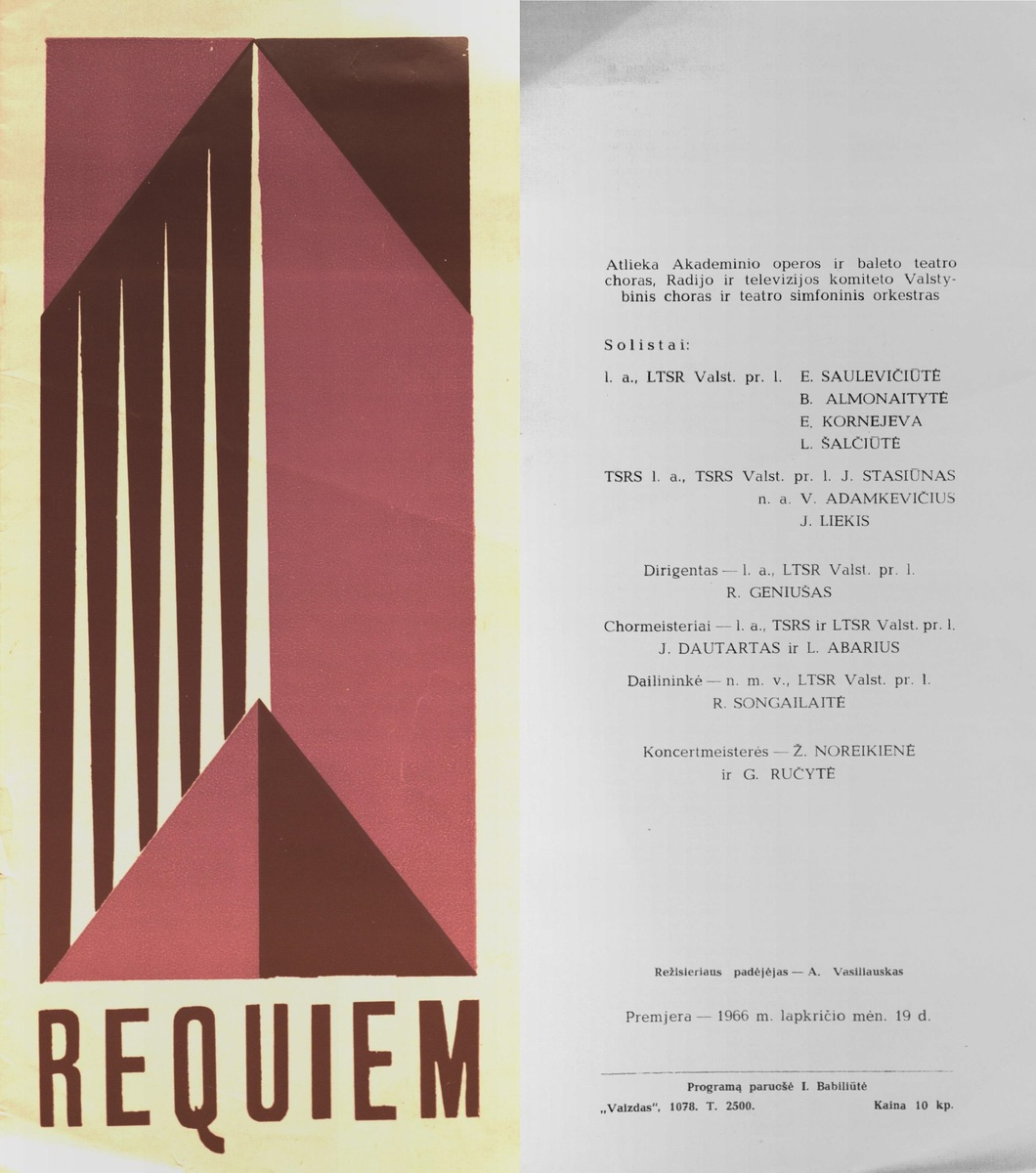 Requiem: Dž. Verdis. 1966 m.