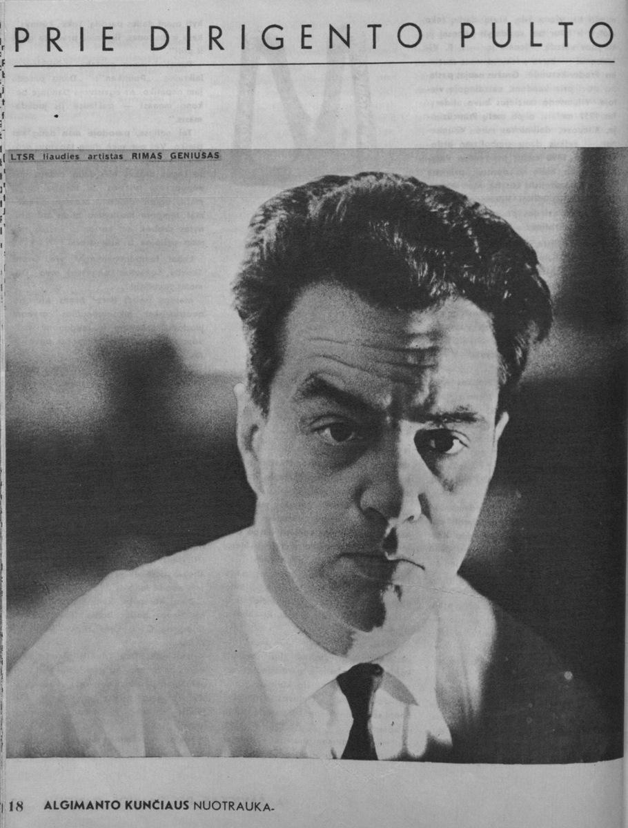 A. Kalinauskas. Prie dirigento pulto // Kultūros barai.- 1970, Nr. 9, p.18-20.
