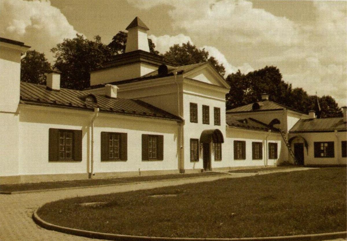 Oginskių dvaras Zaliesėje (Baltarusija). Čia po T. Kosciuškos sukilimo (1794) apsigyveno kunigaikštis M. K. Oginskis