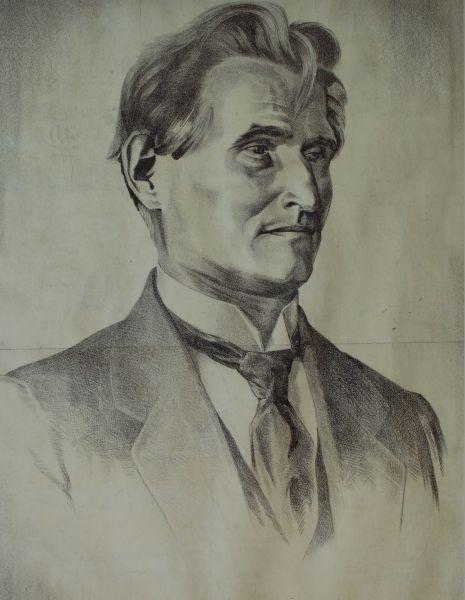 Prezidento K. Griniaus portretas. Dailininkas – Adomas Varnas. 1926 m.