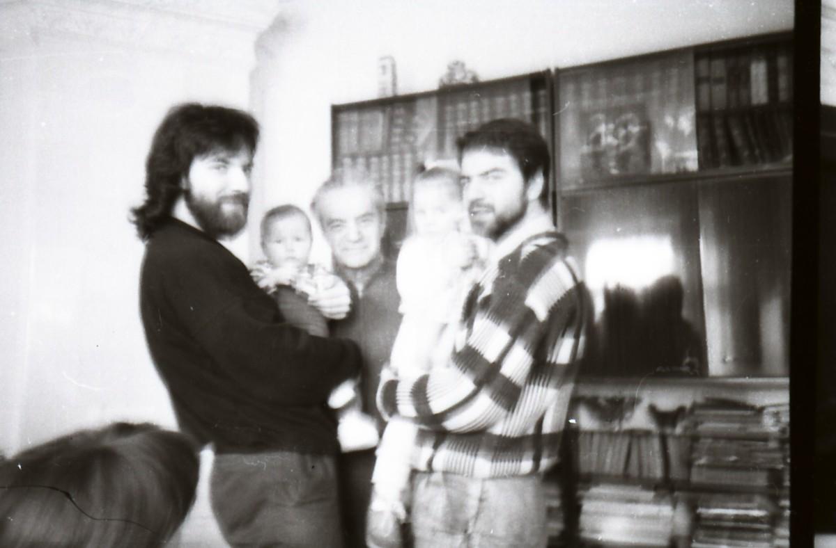 Petras, Lukas, Rimas, Marija, Julius Geniušai. 1991 m.