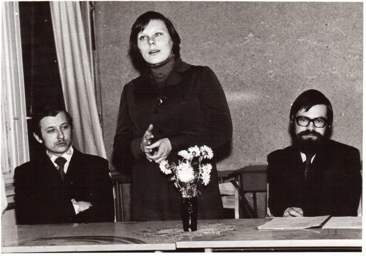 Valdemaras Kukulas, Alma Karosaitė, Vladas Braziūnas. 1982 m.