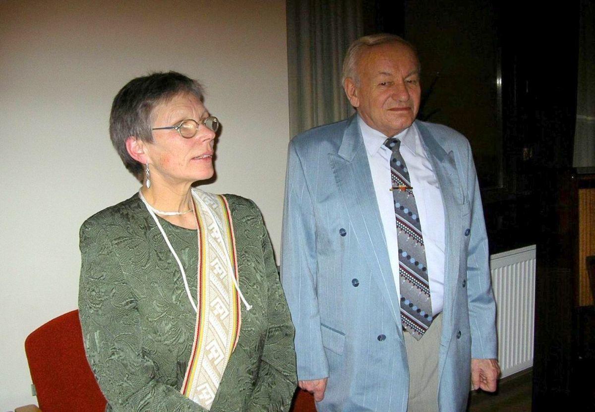 Alma Karosaitė ir Mikas Vaitkevičius. 2005