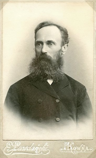 Senelis Vincentas Gintila. Apie 1899 m.