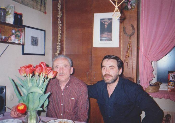 Su aktoriumi K. Smoriginu savo namuose Vilniuje.