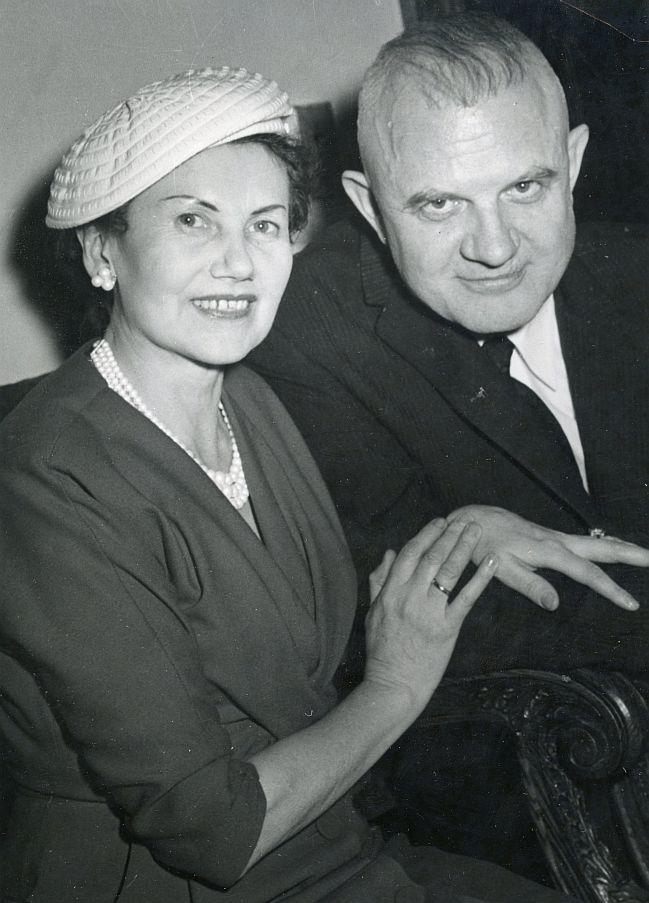 LRD pirmininkas Juozas Tysliava ir Kotryna Grigaitytė-Graudienė. V. Maželio nuotr.