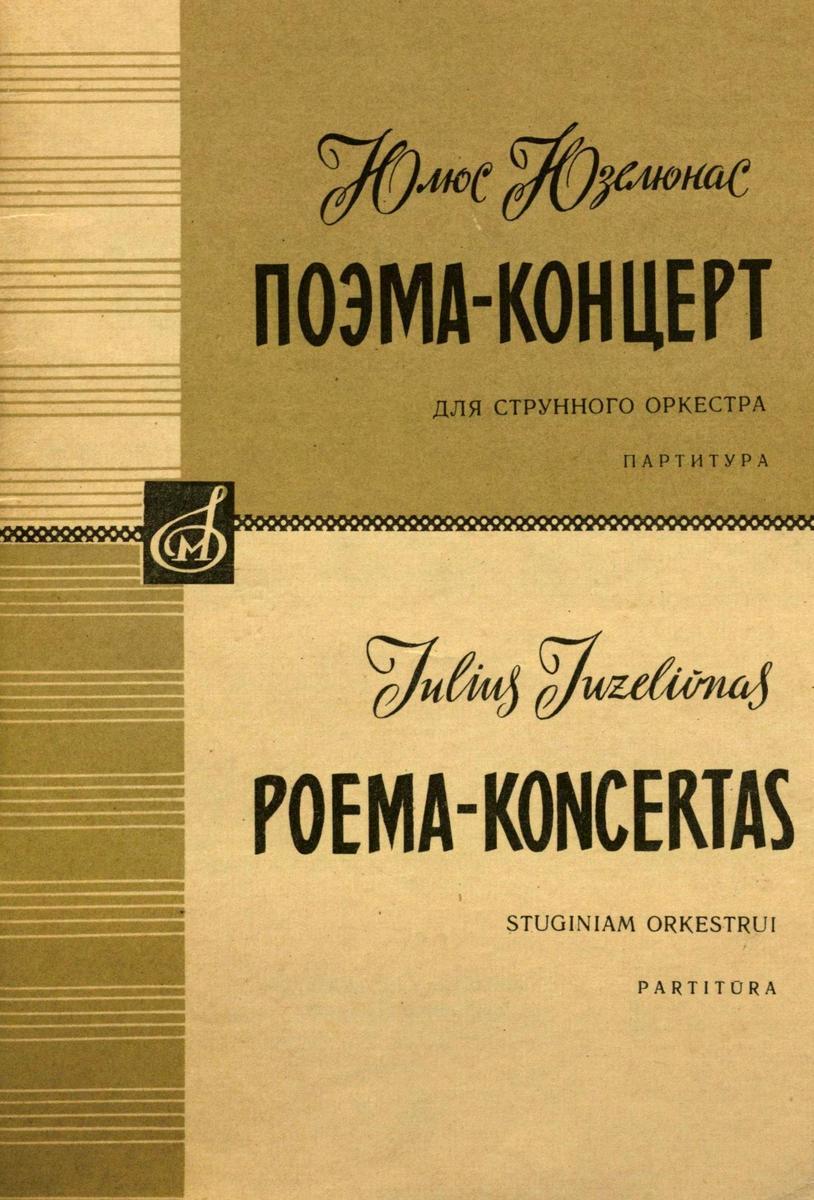 Poema - koncertas : styginiam orkestui