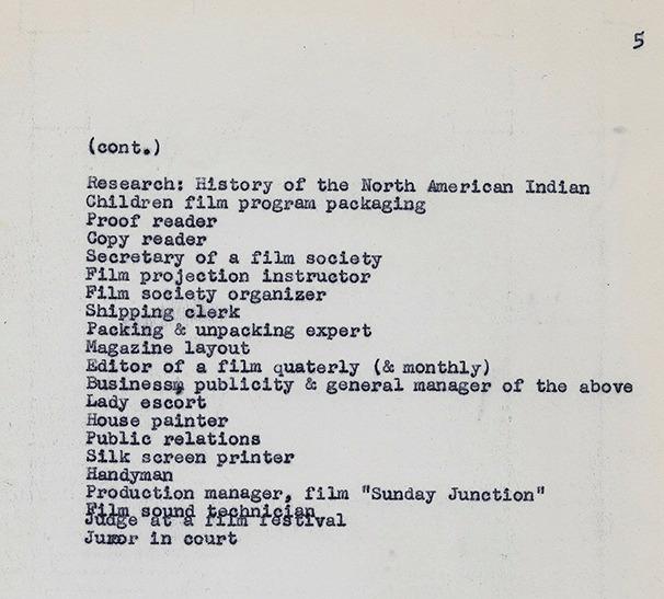 Adolfo Mekų dirbtų darbų sąrašas