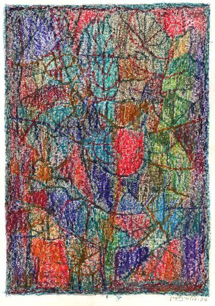 Miniatiūra. 1994. Popierius, aliejinės kreidelės